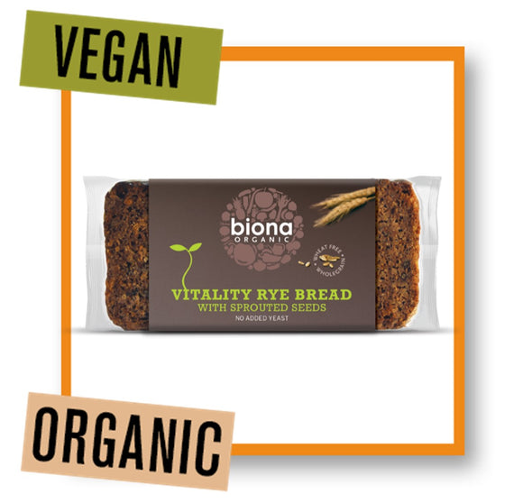 Biona Organic Vitality Rye Bread with Sprouted Seeds