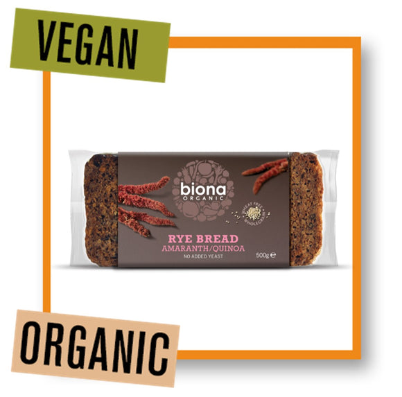 Biona Organic Rye Bread with Amaranth & Quinoa