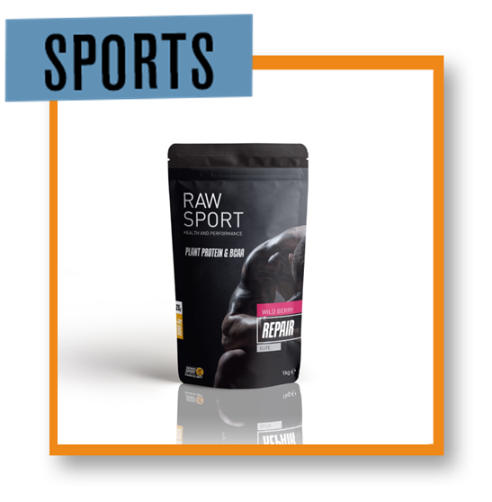 Raw Sport Elite Repair Mens Wild Berry Protein
