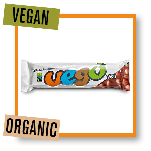 Vego Organic Large Hazelnut Chocolate Bar