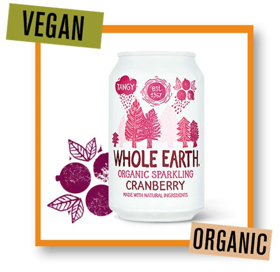 Whole Earth Organic Sparkling Cranberry Drink