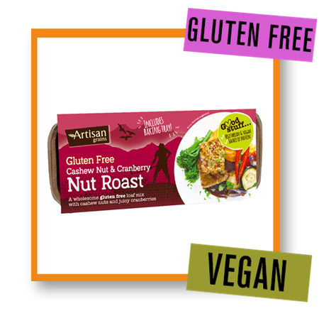 Artisan Grains Gluten Free Cashew & Cranberry Nut Roast Mix