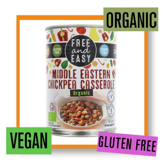 Free & Easy Organic Middle Eastern Chickpea Casserole