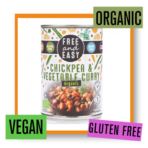 Free & Easy Organic Chickpea & Vegetable Curry