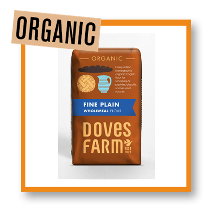 Doves Farm Organic Fine Plain Wholemeal Flour