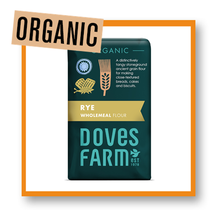 Doves Farm Organic Wholemeal Rye Flour