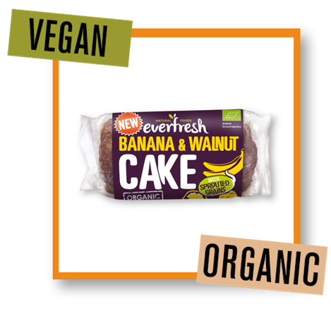 Everfresh Organic Banana & Walnut Cake with Sprouted Grains