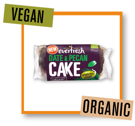 Everfresh Organic Date & Pecan Cake with Sprouted Grains
