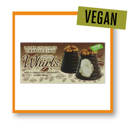Hadleigh Maid Vegan Dark Chocolate & Cappuccino Truffle Walnut Whirl