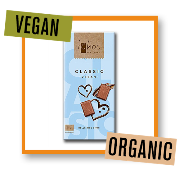 iChoc Organic Classic Rice Chocolate Bar
