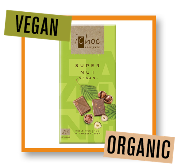 iChoc Organic Super Nut Rice Chocolate Bar