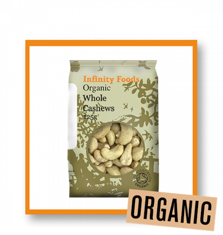 Infinity Foods Organic Whole Cashew Nuts
