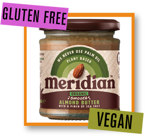 Meridian Organic Smooth Almond Butter with a Pinch of Sea Salt