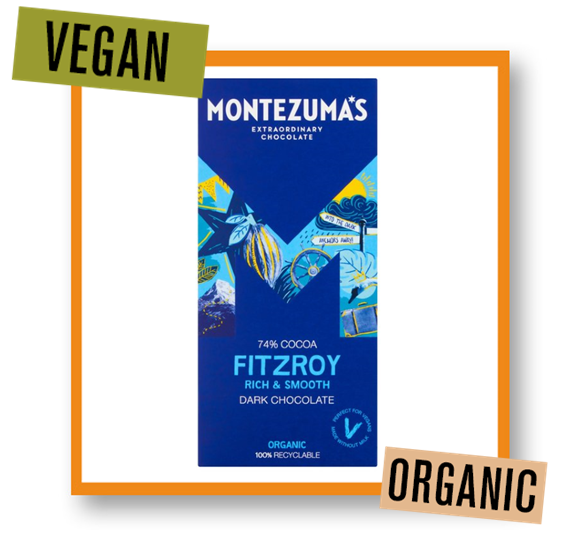 Montezuma Organic Fitzroy 74% Dark Chocolate Bar