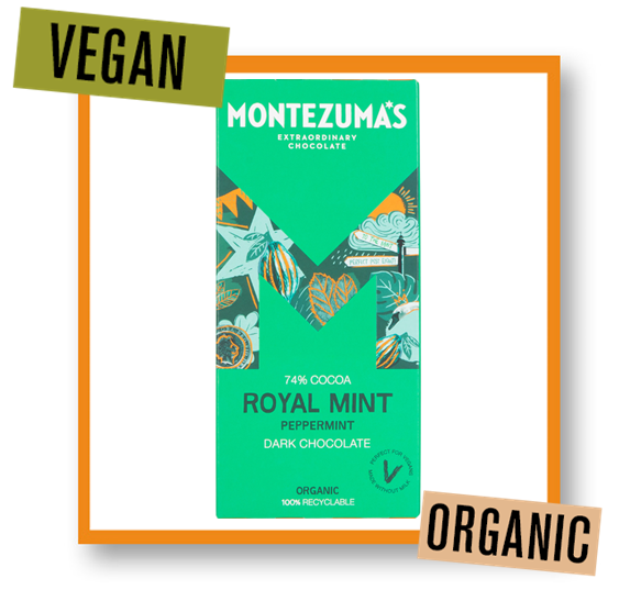 Montezuma Organic Royal Mint Dark Chocolate Bar