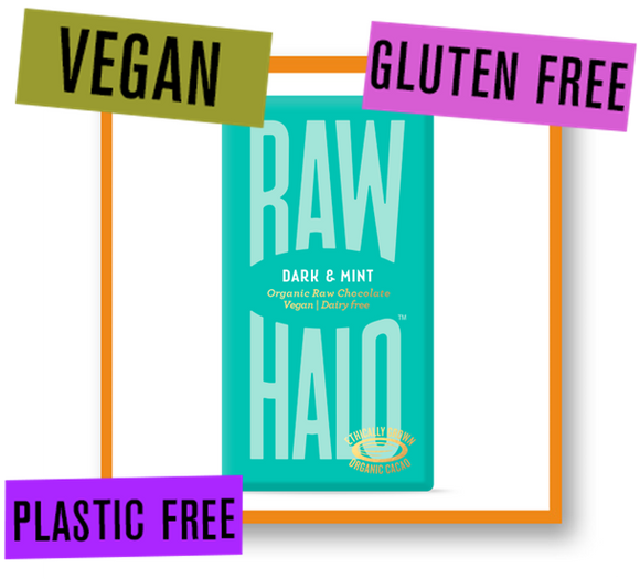 Raw Halo Organic Raw Chocolate Bar Dark with Mint