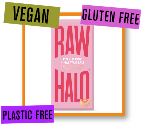 Raw Halo Organic Raw Chocolate Bar Mylk with Pink Himalayan Salt