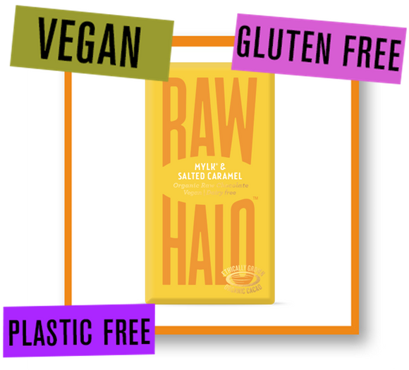 Raw Halo Organic Raw Chocolate Bar Mylk with Salted Caramel