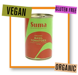 Suma Organic Chopped Tomatoes with Basil Tin