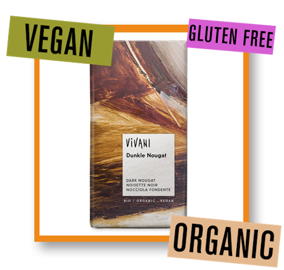 Vivani Organic Dark Nougat Chocolate Bar
