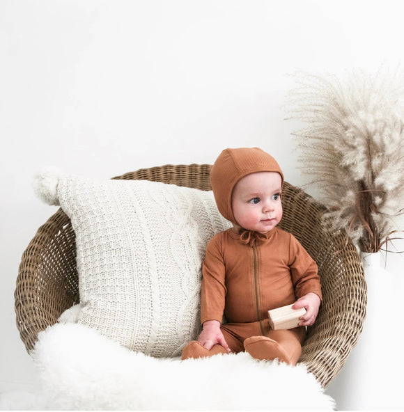 Bamboo Knit Zipper Footed Sleepers