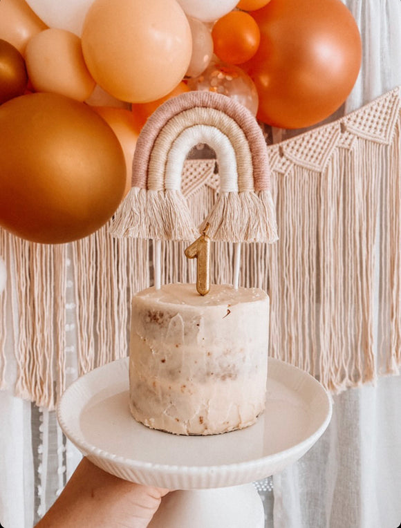 Macrame Rainbow Cake Toppers