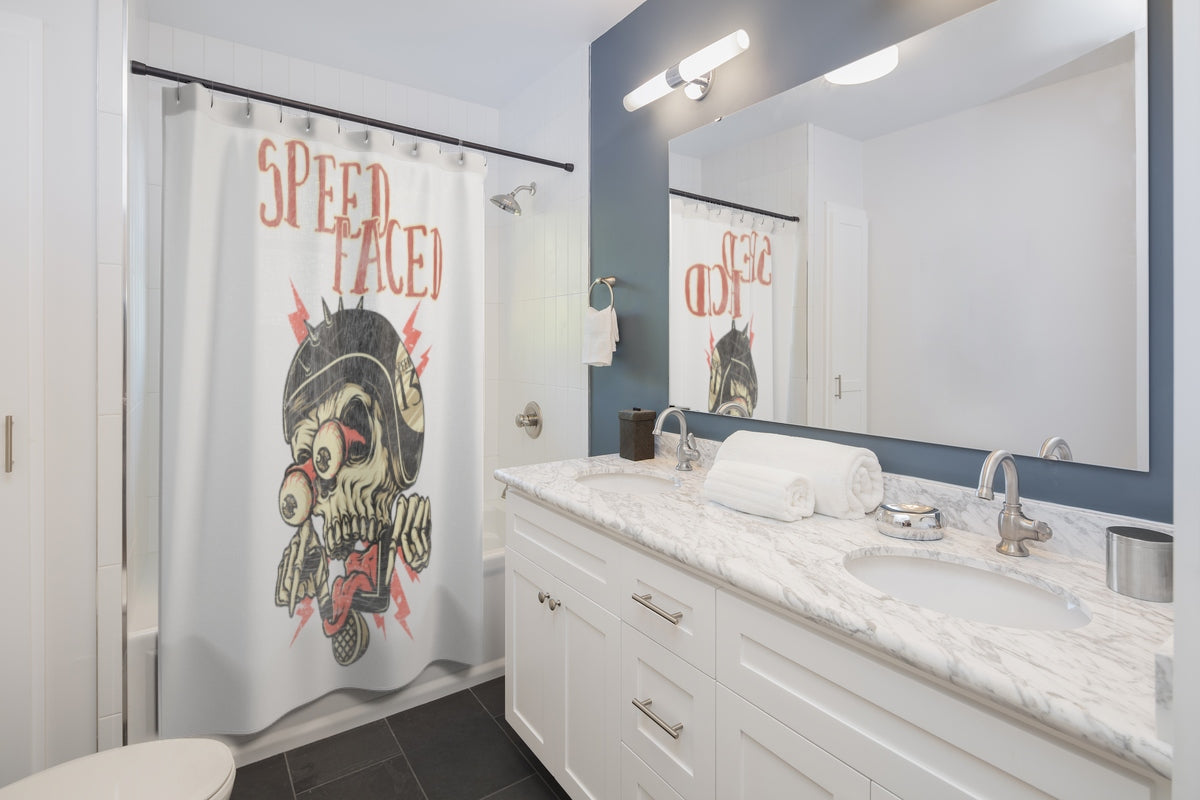 Speed Faced - Shower Curtains