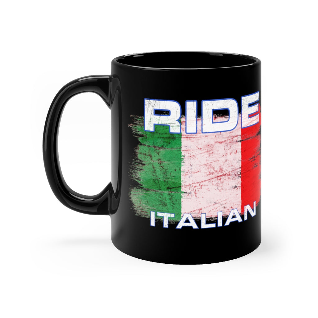 Ride Italian - Black mug 11oz