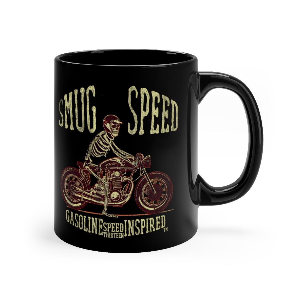Smug Speed - Black mug 11oz
