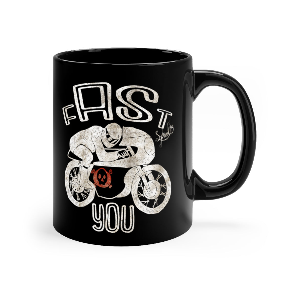 Fast AS you - Ver2 - Black mug 11oz