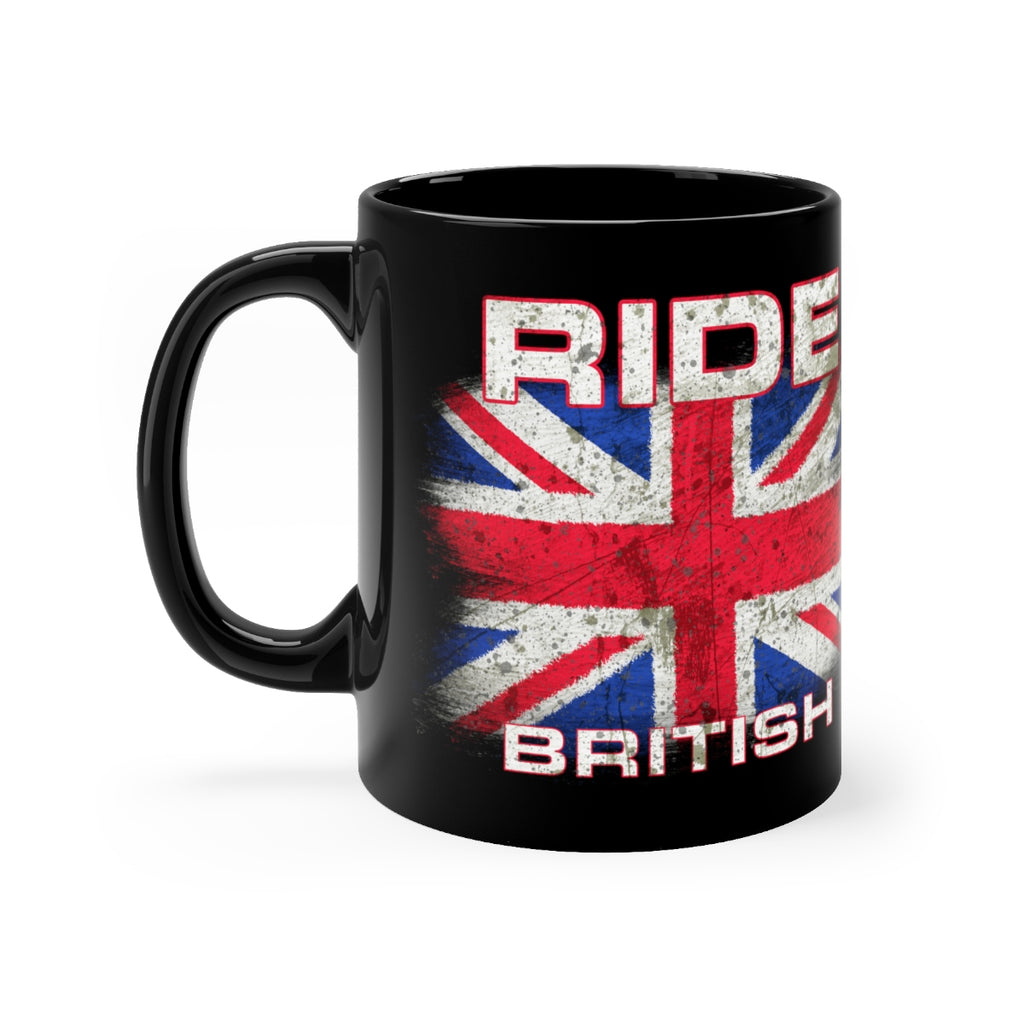 Ride British - Black mug 11oz