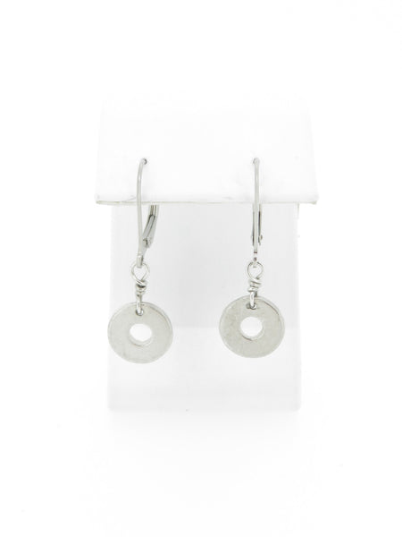 Plain Millstone Dangle Earrings