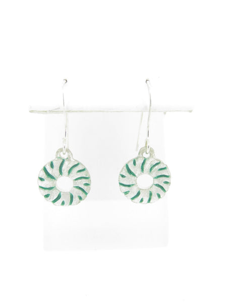 Small Green Millstone Earrings