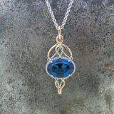 London Blue and Diamond Necklace