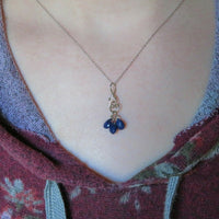 Sapphire Necklace in White Gold