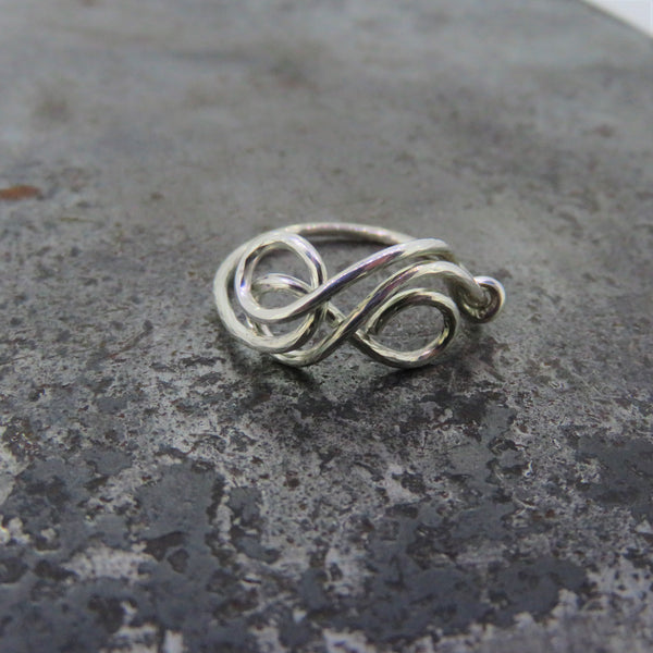 Infinity Style Silver Ring