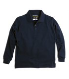 Long Sleeve Interlock Knit Polo