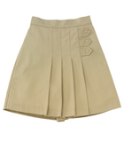 Skort w/ Pleats and Buttons