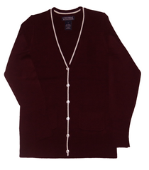 V-Neck Cardigan w/ white trim