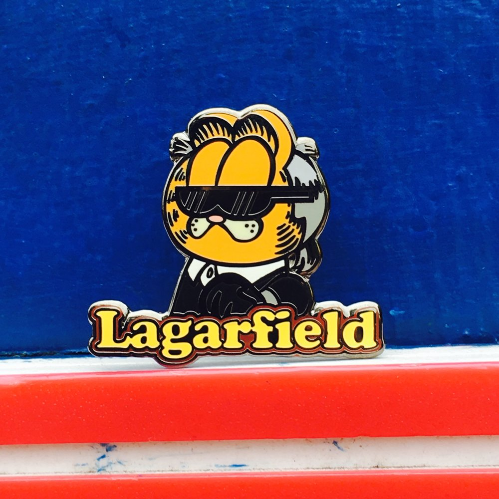 """Lagarfield"" by Chad Manzo pin"