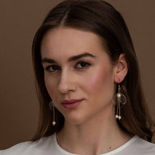 Load image into Gallery viewer, Sustainable jewelry - Clear Lily Double-Drop Earrings