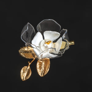 White Jasmine Brooch