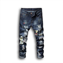 Load image into Gallery viewer, Classic Denim Stretch Slim Jeans