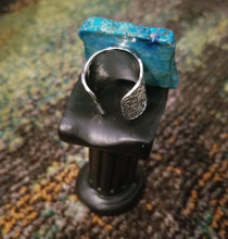 Load image into Gallery viewer, Blue Regalite Slab Ring = (Courage & Wisdom)