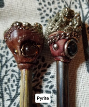 Load image into Gallery viewer, Mystic Stone Hair Wands (Set of 2)