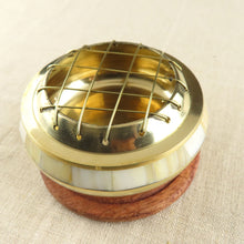 Load image into Gallery viewer, Mother of Pearl & Brass Charcoal Burner
