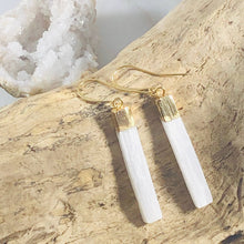 Load image into Gallery viewer, Selenite Wand Earrings by Sarah Belle