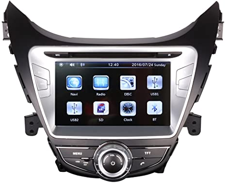 Hyundai Elantra Radio Dvd Touch Screen Hd Player for 2016.