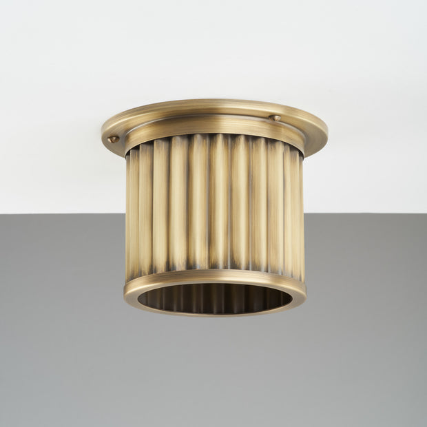 Littleton End Cap Diffuser - Aged Brass