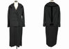 1950's Vintage Lilli Ann Black Wool Suit Dress
